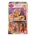 Educa Borras -  Puzzle 2x50 pièces Princesse Raiponce bois 8412668146365