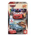 Educa Borras -  Puzzle 2x50 pièces Cars 2 bois 8412668149366