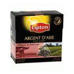 Lipton -  argent d'asie the vert sachets individuels dans boite carton 20 sachets asie sachet pyramide the vert  8712566051014