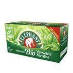 Lipton -  elephant infusion sachets individuels dans boite carton biologique ab 25 sachets sachet verveine menthe  8712566151615