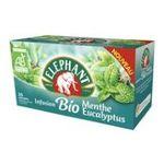 Lipton -  elephant infusion sachets individuels dans boite carton biologique ab 25 sachets sachet menthe et eucalyptus  8712566151677