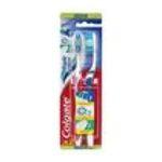 Colgate -  triple action brosse a dents blister 2ctsynthetique medium adulte triple action  8714789682655