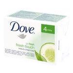 Dove -  savon film plastique  4ct hydratant extrait de concombre et the vert adulte pain  8717163379134