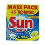 Sun - SUN    tout en 1 hydrofilm pdt lavage/sel regen/liqd rinc/protec vaisselle paquet carton citron concentre tablette / dose  8718114380827