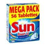 Sun - SUN    tout en 1 hydrofilm pdt lavage/sel regen/liqd rinc/protec vaisselle paquet carton concentre tablette / dose  8718114383644