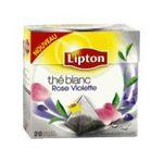 Lipton - THE BLANC ROSE ET VIOLETT 20 SACHET PYRAMIDE LIPTON    the blanc sachets individuels dans boite carton rose et violette 20 sachets sachet pyramide the blanc  8718114888378