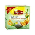 Lipton -  the vert sachets individuels dans boite carton mandarine et orange 20 sachets sachet pyramide the vert  8722700069027