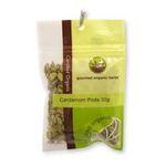 Gourmet Organic Herbs -  Gourmet Organic Cardamom Pods  Sachet x 1 9332974000306