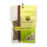 Gourmet Organic Herbs -  Gourmet Organic Pepper Black Cracked Sachet x 1 9332974000320