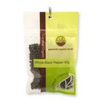 Gourmet Organic Herbs -  Gourmet Organic Pepper Black Whole  Sachet x 1 9332974000337