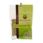 Gourmet Organic Herbs -  Gourmet Organic Pepper White Whole  Sachet x 1 9332974000351