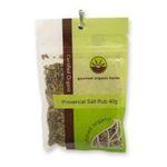 Gourmet Organic Herbs -  Gourmet Organic Salt Rub Provencal  Sachet 9332974000764