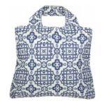 Envirosax -   None Envirosax Marina Reusable Shopping Bag - White-Blue - One Size 9337259003768 UPC